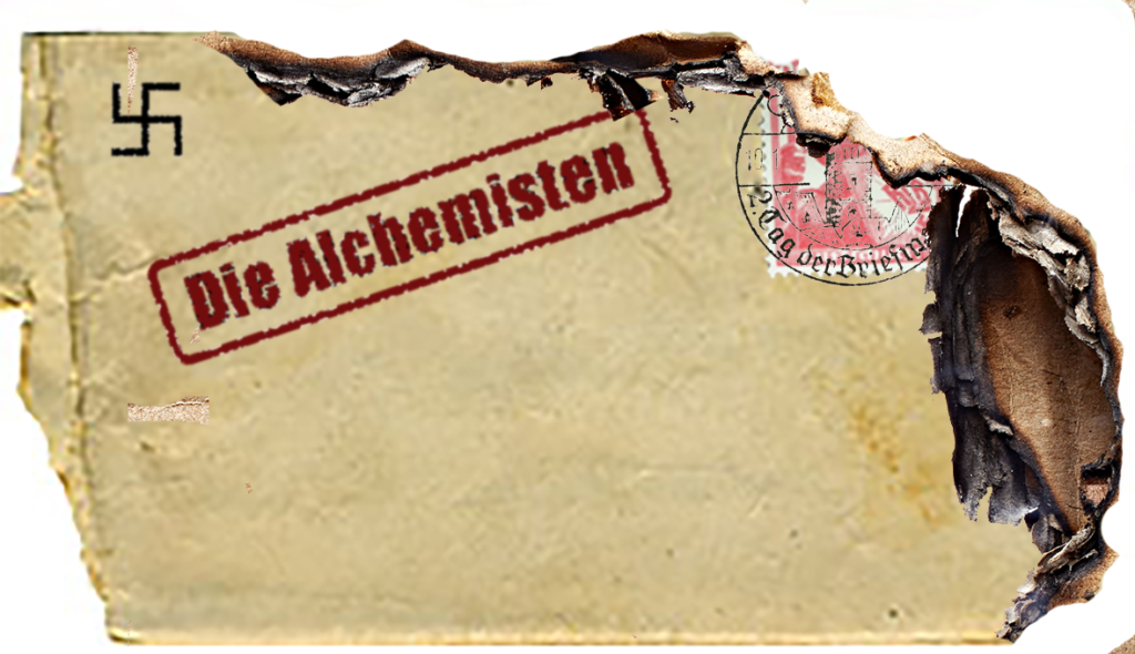 An envelope found int he wreckage of the Hindenburg
